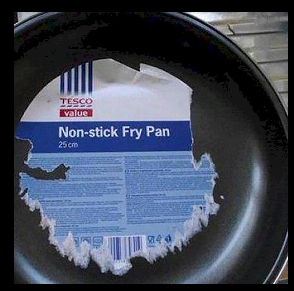 sticky pan
