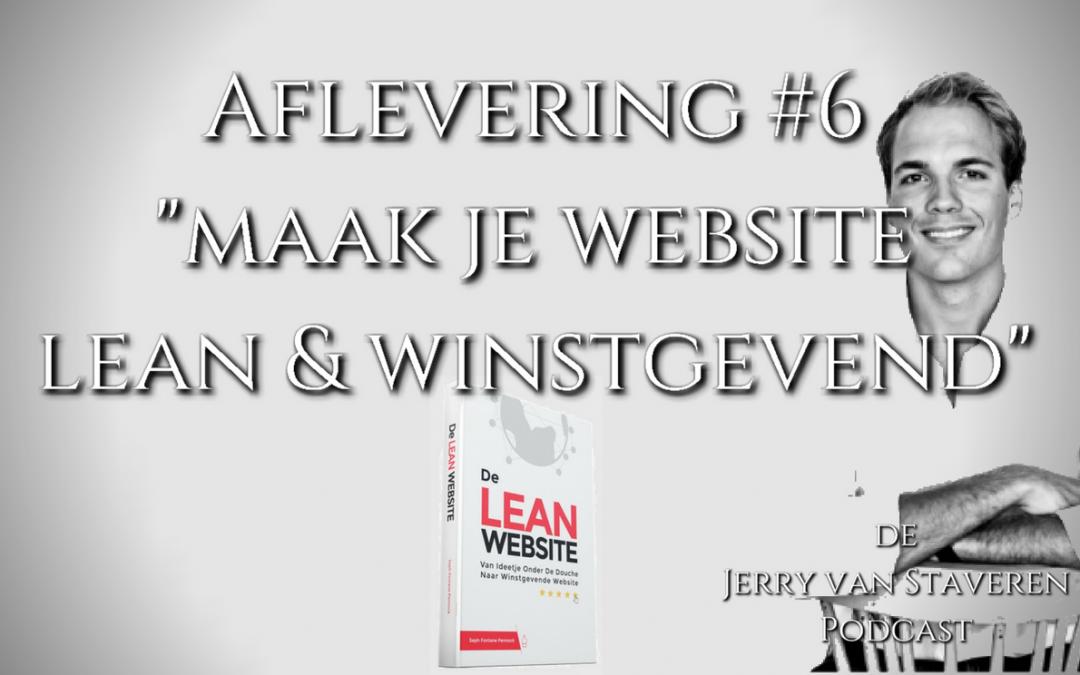 JVSP06 MAAK JE WEBSITE LEAN EN WINSTGEVEND