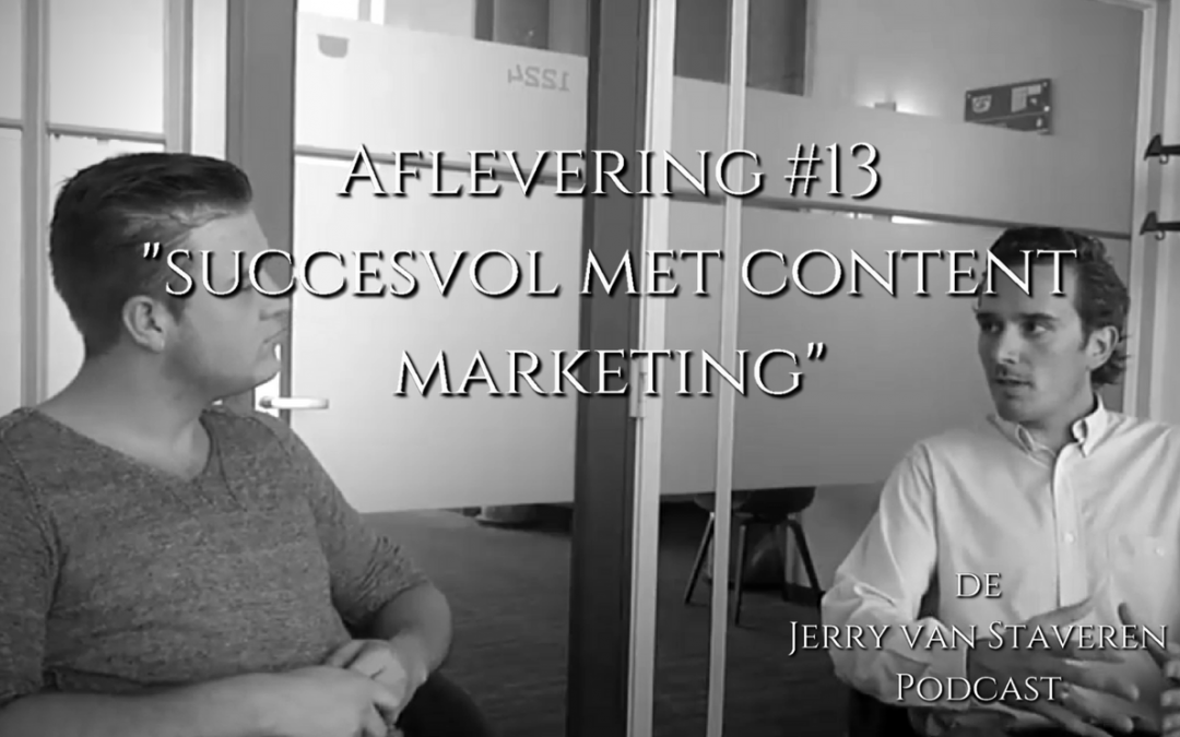 JVSP13 SUCCESVOL MET CONTENT MARKETING